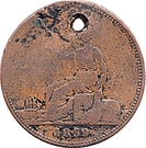 1 Penny - T. Butterworth & Co. (Castlemaine, Victoria ) – reverse