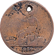 1 Penny - T. Butterworth & Co. (Castlemaine, Victoria ) -  reverse