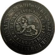 1 Penny (Rocke, G. & W. H. - Melbourne, Victoria) -  obverse