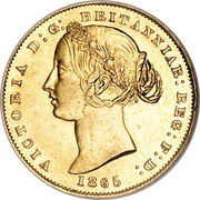 1 Sovereign - Victoria -  obverse