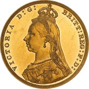 1 Sovereign - Victoria – obverse