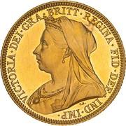 1 Sovereign - Victoria – obverse