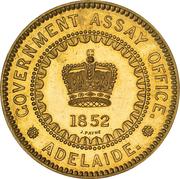5 Pounds - Victoria (South Australia Colony; Pattern; Restrike) – obverse