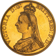 5 Pounds - Victoria (Golden Jubilee) -  obverse