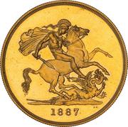 5 Pounds - Victoria (Golden Jubilee) -  reverse