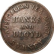 1 Penny Token (Hanks & Lloyd - Sydney, NSW) -  obverse