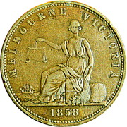 1 Penny (Peace and plenty - Melbourne, Victoria) -  obverse