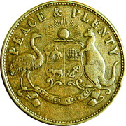 1 Penny (Peace and plenty - Melbourne, Victoria) -  reverse
