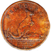 ½ Penny (Crombie,Clapperton & Findlay - Melbourne, Victoria) -  obverse