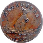 ½ Penny (W.J. Taylor - Melbourne, Victoria) -  obverse