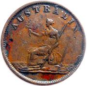 ½ Penny (W.J. Taylor - Melbourne, Victoria) -  reverse