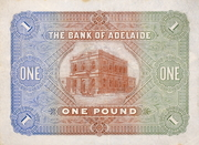 1 Pound (Bank of Adelaide) -  reverse