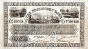 1 Pound - The Producers' Bank, Sydney (New South Wales) -  obverse