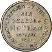 ½ Penny (T. W. Thomas & Co. - Melbourne, Victoria) -  reverse