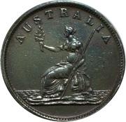 ½ Penny (Taylor, W. J - Melbourne, Victoria) – reverse