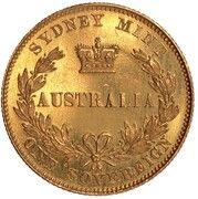 1 Sovereign - Victoria (Pattern) – reverse
