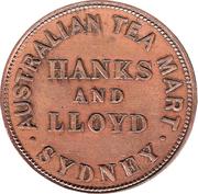 ½ Penny (Hanks & Lloyd - Sydney, New South Wales) -  reverse
