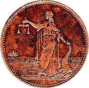 ½ Penny (Weight & Johnson - Sydney, New South Wales) – obverse