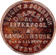 ½ Penny (Weight & Johnson - Sydney, New South Wales) -  reverse