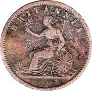 ½ Penny (Alfred Nicholas - Hobart, Tasmania) -  obverse