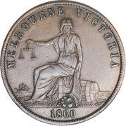 ½ Penny (John Andrew & Co. - Melbourne, Victoria) -  obverse