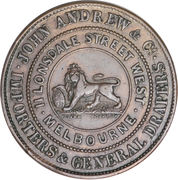 ½ Penny (John Andrew & Co. - Melbourne, Victoria) -  reverse