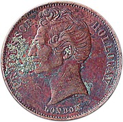 ½ Penny (Professor Holloway - London, England) -  obverse