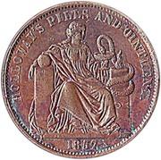 ½ Penny (Professor Holloway - London, England) – reverse