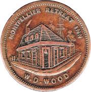 ½ Penny (W.D.Wood - Hobart, Tasmania) -  obverse
