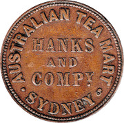 ½ Penny (Hanks & Compy. - Sydney, New South Wales) -  obverse