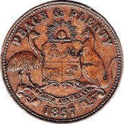 ½ Penny (Hanks & Compy. - Sydney, New South Wales) -  reverse