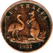 ½ Penny (Fisher - South Yarra, Melbourne, Victoria) -  obverse