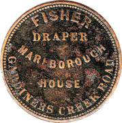 ½ Penny (Fisher - South Yarra, Melbourne, Victoria) -  reverse