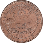 1 Penny (Davies Alexander & Co - Goulburn, New South Wales) -  obverse