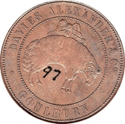 1 Penny (Davies Alexander & Co - Goulburn, New South Wales) -  reverse