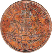 1 Penny (J. Sawyer - Brisbane, Queensland) -  obverse