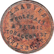 1 Penny (J. Sawyer - Brisbane, Queensland) -  reverse