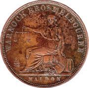 1 Penny (Warnock Bros - Melbourne & Maldon, Victoria) -  reverse