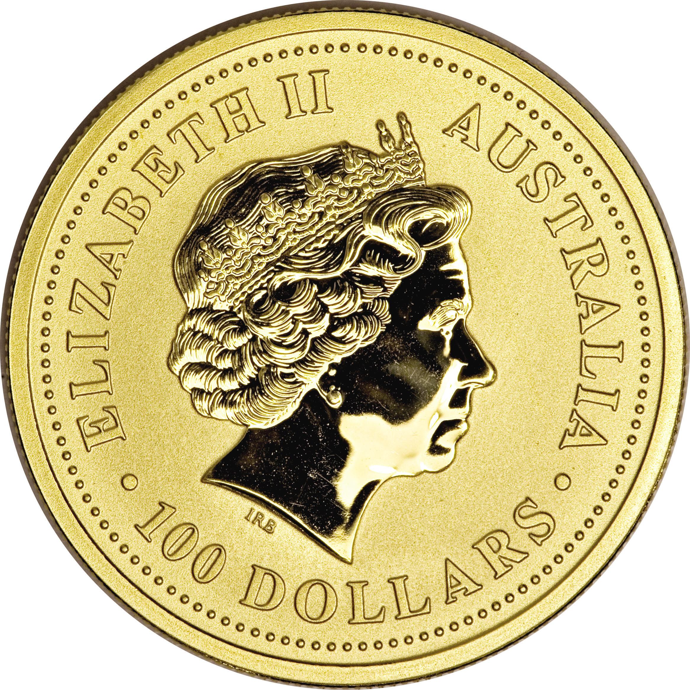 100 Dollars Elizabeth Ii Lunar Year Series Gold Bullion Coinage