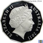50 Cents - Elizabeth II (4th Portrait - William and Kate Royal Wedding - Silver Proof) -  obverse
