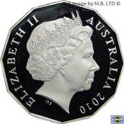50 Cents - Elizabeth II (4th Portrait - Royal Engagement - Silver Proof) -  obverse