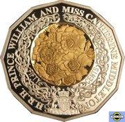 50 Cents - Elizabeth II (4th Portrait - Royal Engagement - Silver Proof) -  reverse