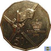 50 Cents - Elizabeth II (5th Portrait - Royal Visit) -  reverse