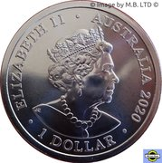 1 Dollar - Elizabeth II (6th Portrait - QANTAS 01 - The Flying Kangaroo) -  obverse