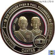 1 Dollar - Elizabeth II (6th Portrait - QANTAS 02 - Fysh and McGinness) -  reverse