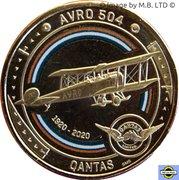 1 Dollar - Elizabeth II (6th Portrait - QANTAS 03 - Outback Pioneer - Avro 504) -  reverse