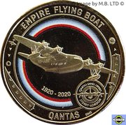 1 Dollar - Elizabeth II (6th Portrait - QANTAS 04 - Singapore Service - Empire Flying Boat) -  reverse