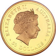 "50 Dollars - Elizabeth II (""Discover Australia Series"" Gold Bullion Coinage) – obverse"