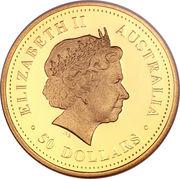 50 Dollars - Elizabeth II (4th Portrait - Dolphins - Gold Bullion Coin) -  obverse