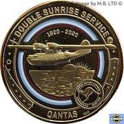 1 Dollar - Elizabeth II (6th Portrait - QANTAS 05 - Indian Ocean Epic - Catalina Flying boat) -  reverse